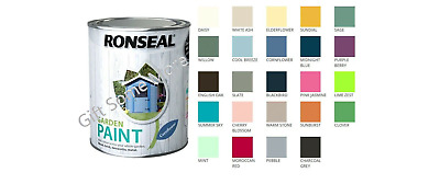 £12.46 • Buy Ronseal Outdoor Garden Paint - For Exterior Wood Metal Stone Brick - All Colours