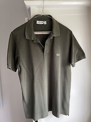 Lacoste Polo Shirt Mens T Shirt Size 4 Medium • 2.70£