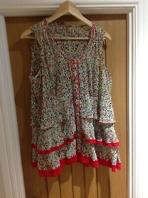 Matalan Ladies Floral Vest Top Size 18 • 1.10£