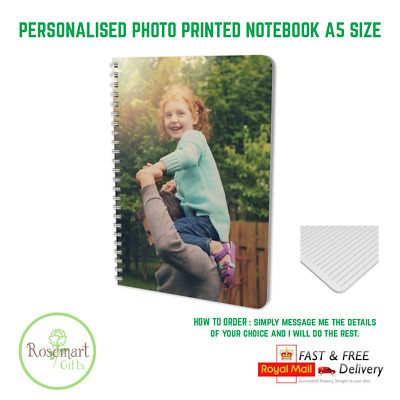£6.79 • Buy  Personalised Notebook Diary Gift Custom Printed Photo/text A5 Notepad