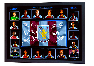 £19.99 • Buy ASTON VILLA Framed A4 Canvas Tribute Limited Edition Print  Signed