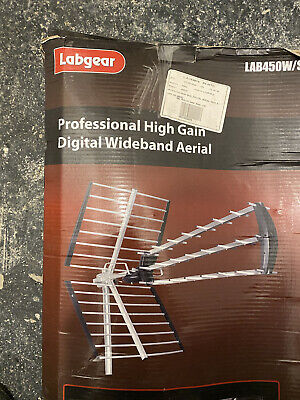 Labgear Lab450W High Gain Digital Wideband TV Aerial , Silver • 19.99£