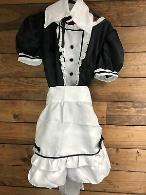 $22.94 • Buy Lady Waitress Costume Women's Maid Outfit Dress Apron Suit Cosplay MEDIUM