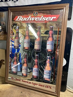$ CDN94.93 • Buy Vintage '98 Budweiser Classic American Lager Beer Mirror Sign 1876 Hard_8s_Magic