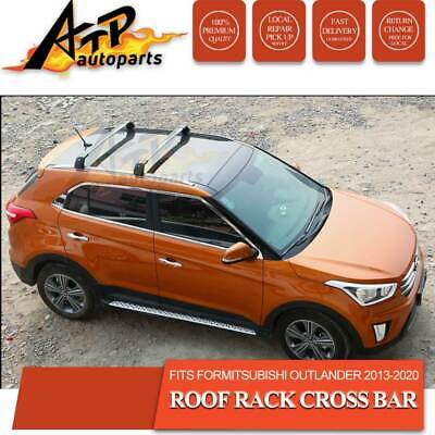 AU126 • Buy 2ps Roof Rack Cross Bar For Mitsubishi Outlander 2012 -2020 Clamp To Flush Rails