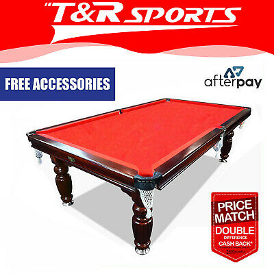 AU1506.99 • Buy 15%off 8ft Walnut Red Pool Snooker Billiards Table Slate With Accessaries