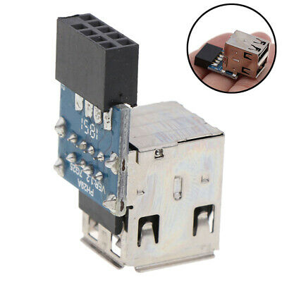 AU10.41 • Buy Internal Header Adapter 2 Ports USB2.0 A Female 9Pin Motherboard To DoubleLaS*
