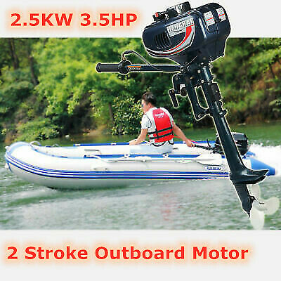 AU307 • Buy Hangkai 2Stroke Water Cooled Boat Engine 3.5 HP Outboard Motor 2.5KW CDI System