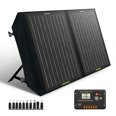 £130.99 • Buy 120W Foldable Solar Panel 12V Battery Charger Portable Camping RV Trailer