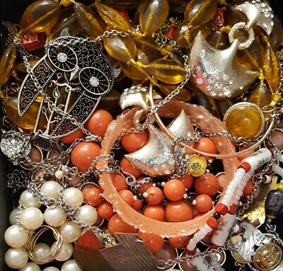 $ CDN39.75 • Buy Vintage Now Unsearched Untested Junk Drawer Jewelry Lot All Wear Estate L616