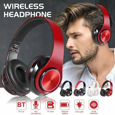 AU27.43 • Buy Wireless Bluetooth Headphones Headset Over Ear With Mic Noise Cancelling