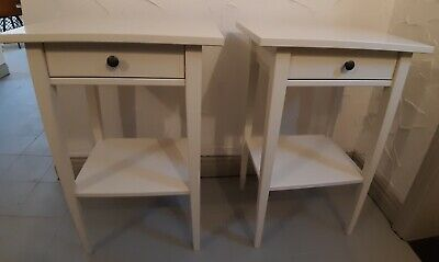 Ikea Hemnes White Bedside Table, Pair • 20£