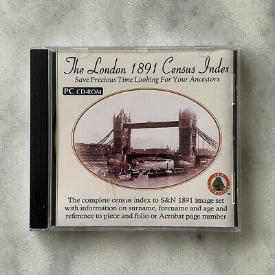 The London Census 1891 Census Index (S&N Genealogy Supplies) • 0.99£
