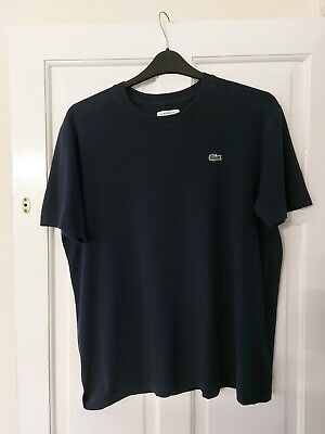 Mens Lacoste  T Shirt Navy Size 5 Large  • 2.49£