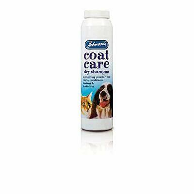Johnsons Coat Care Cleans Conditions Skin Dry Shampoo Grooming Powder For Dogs • 5.23£