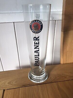 RARE ITEM- Paulaner Lager / Weissbier Tall Style Pint Glass • 5£