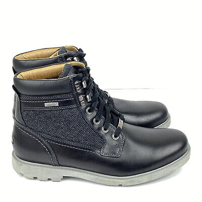 Rockport Men's Rugged Bucks High Boots Grey Waterproof Size 9 M Leather New • 49.32£