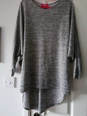 Ladies Grey Lagenlook Tunic Top Lovely Lounge Top Size 16/18 Very Roomy.  • 6£