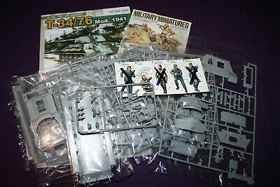 Dragon T-34/76 Mod.1941 1:35 Scale Model Tank Kit 6205. + 12 Tamiya Figures.  • 50£