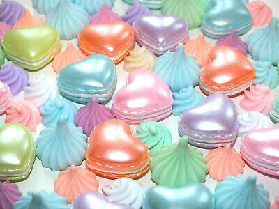 Fake Whipped Cream Swirl Meringue Macaroon Food Candy Pastel Mix Kawaii Resin • 6.99£