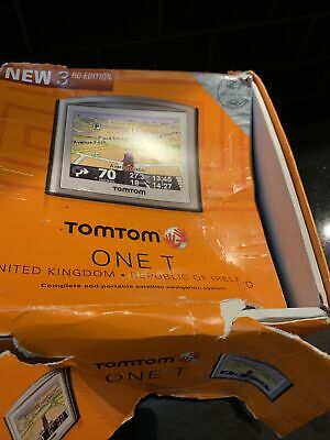 Tomtom One Satnav With  Carry Case Charger And Traffic Master In Box • 3.30£