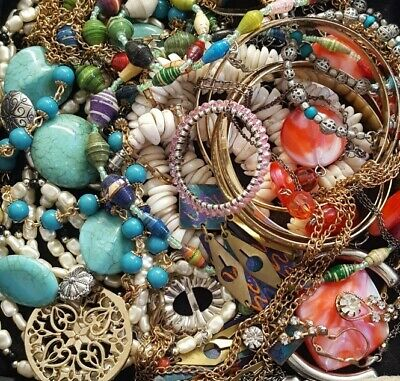 $ CDN44.29 • Buy Vintage Now Unsearched Untested Junk Drawer Jewelry Lot All Wear Estate L622