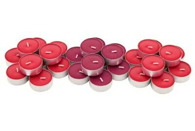 IKEA Sinnlig Scented Red Garden Berries Coloured Tealight Candles Pack Of 10 • 2.95£