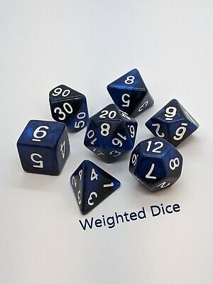Weighted Dice Set - Loaded Dice For D&D - Night Sky Blue • 70.05£