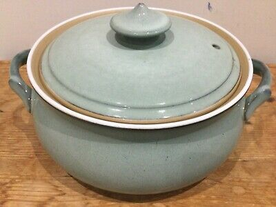 DENBY Regency Green Stoneware Casserole Dish With Lid VINTAGE 1990s • 48.99£