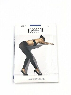 Wolford Mat Opaque 80 Leggings - Regatta (blue) - Large - New Sealed • 15£