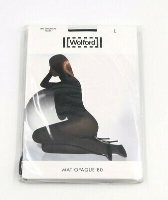 Wolford Mat Opaque 80 Tights - Black - Large 16-18 - New Sealed Packet • 17.50£