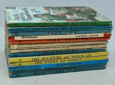 Vintage Ladybird Books 13 In Total Jack And The Beanstalk / Story Of Railways Et • 10£