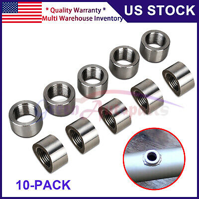 $23.98 • Buy 02 O2 Oxygen Sensor Curved Nut Bung M18 X 1.5 Threads - Stainless 10 PACK