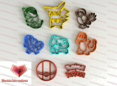 AU7.95 • Buy Pokemon Cookie Cutters Biscuit Fondant Cutter Embosser