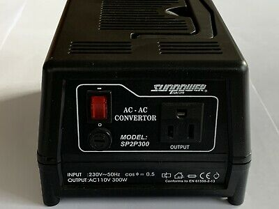 SunPower (230V To 110V) 300W UK To USA Step-down Voltage Converter Transformer • 29.50£