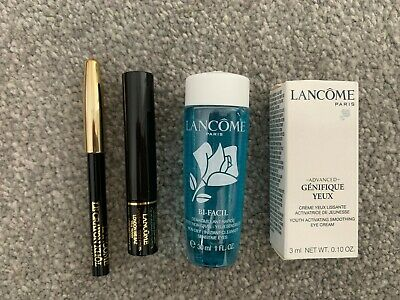 Lancome Mini Travel Gift Set - 4 Items (Eye Cream, Cleanser, Mascara & Eyeliner) • 9.99£