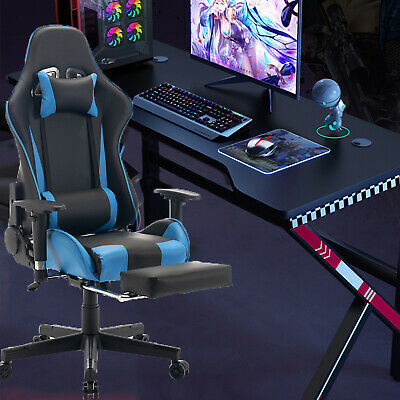 £76.99 • Buy Racing Gaming Computer Chair Recliner Office Swivel Lift Adult Executive Seat UK