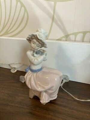 Nao Girl Sitting With Puppy Dog Figurine, Excellent Condition, • 5.50£