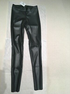 Wolford Faux Leather Leggings In Office Grey - 38 / Uk10 - New - Rrp £ 250 • 159.95£