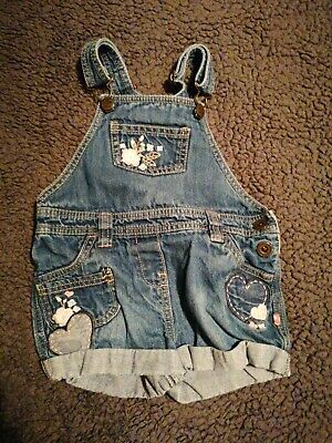 Girls Short Dungarees Age 2-3 Years • 2£