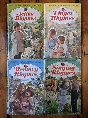 4X Series 702 Learning With Rhymes Vintage 1970s Ladybird Books • 7£