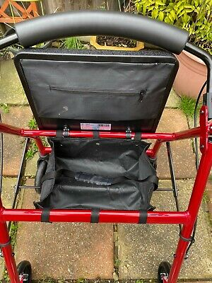 £50 • Buy Care Co Shopping Trolley Mobility Aid With Seat, Basket, Wheels, Brakes & Back