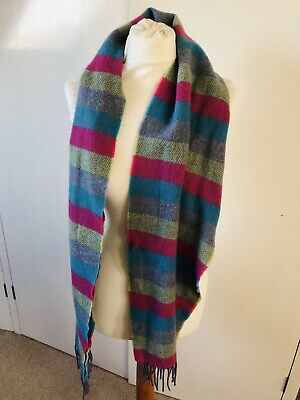 Foxford Bright Striped Lambswool Scarf • 12.99£