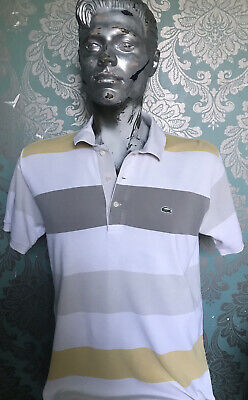 Mens Lacoste Striped Polo Shirt Size 4 • 6.99£