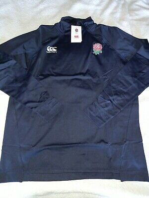 Canterbury England Rugby First Base Layer Top With Side Zip Size Medium • 10£