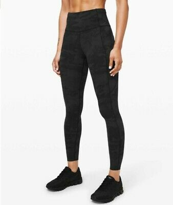 $ CDN109 • Buy NWT Lululemon FAST FREE 7/8 II Leggings Nulux 25  Grey Camo Size 6 $138