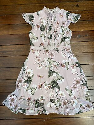 AU20 • Buy Forever New Floral Blush Pink Dress Size 8