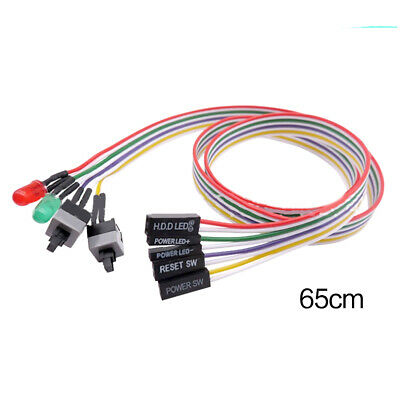 £2.18 • Buy 65CM Computer Host Motherboard Power ATX On Off Reset Switch Button LED Cable