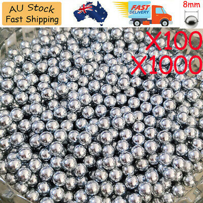 AU12.99 • Buy 100/1000 X 6mm 8mm Steel Ball Bicycle Bike Steel Ball Bearing Replacement Part