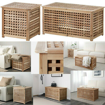 £44.98 • Buy IKEA HOL Acacia Solid Wooden Storage/Side Table/ Laundry Basket/ Coffee Table